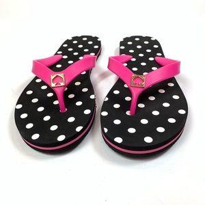 Kate Spade Flip Flops Polka Dot Pink